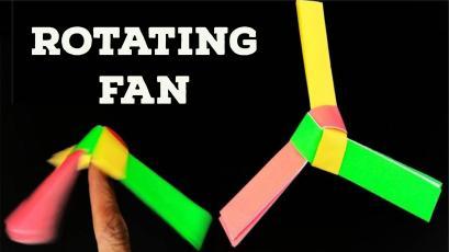 Rotating Paper Fan